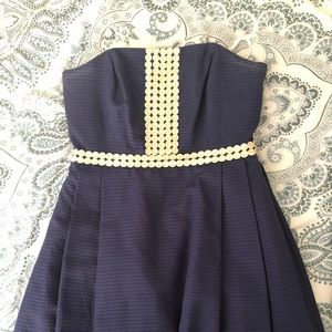 Lily Pulitzer Navy Bubble Dress (size 6)